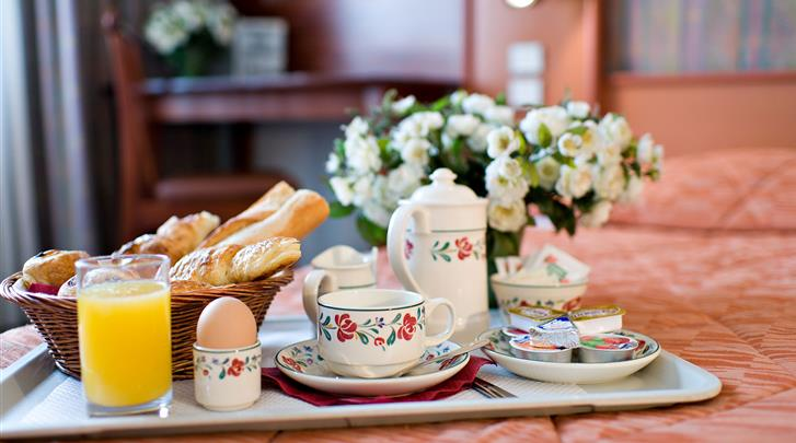 Parijs, Hotel Abrial, Ontbijt