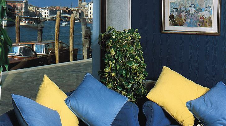 Venetië, Hotel Locanda Vivaldi, Lounge ruimte