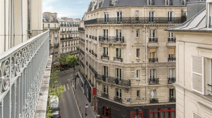 Parijs, Hotel Corona Rodier, Façade hotel