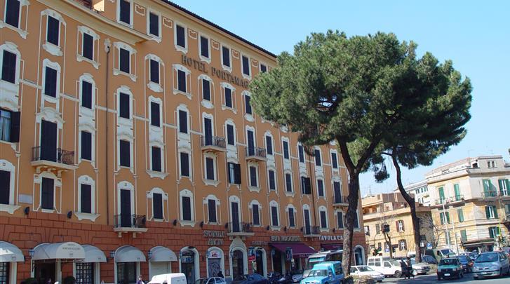 Rome, Hotel Portamaggiore, Façade hotel