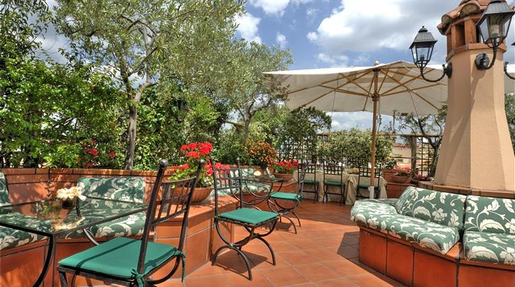 Rome, Hotel Diana, Terras