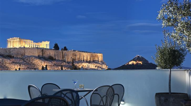 Athene, Hotel Acropolis Hill, Nachtuitzicht