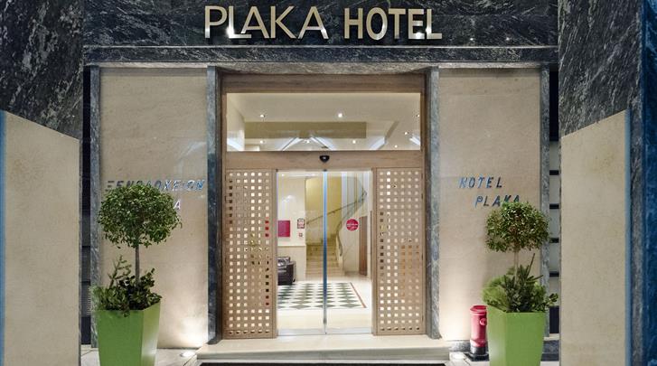 Athene, Hotel Plaka, Façade hotel