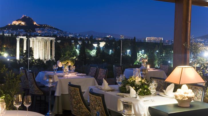 Athene, Hotel Royal Olympic, Roof Garden restaurant
