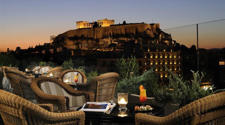 Athene, Hotel Royal Olympic, Terras