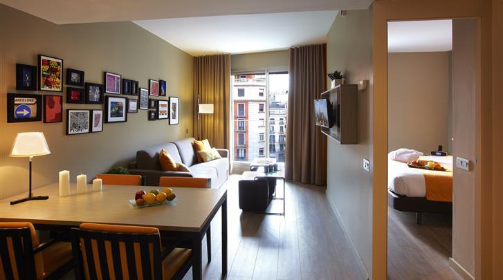 Barcelona, Appartement Citadines Ramblas, 2-kamer appartement