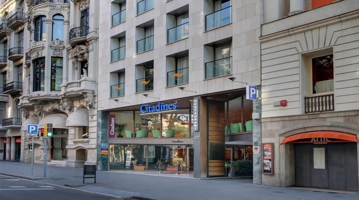 Barcelona, Appartement Citadines Ramblas, Façade hotel