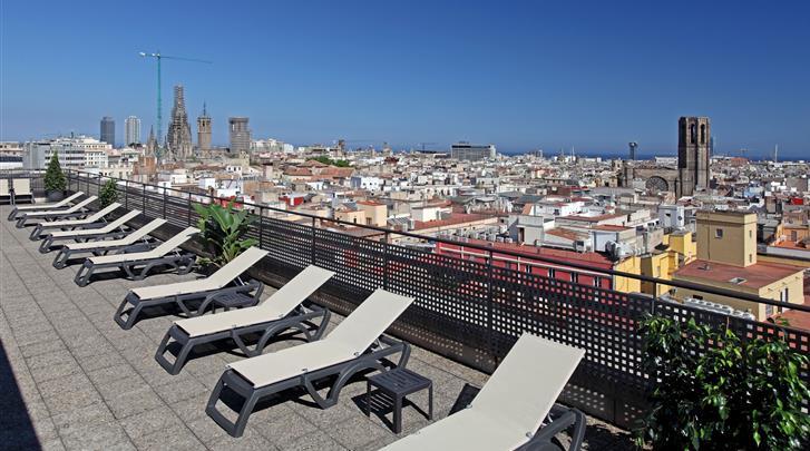 Barcelona, Appartement Citadines Ramblas, Terras