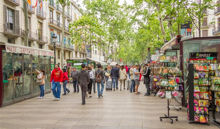 Barcelona De Ramblas, winkelen
