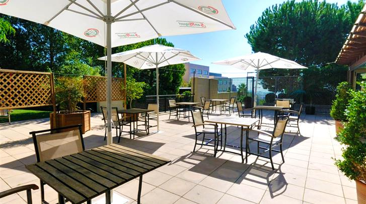 Barcelona, Hotel Abba Garden, Terras