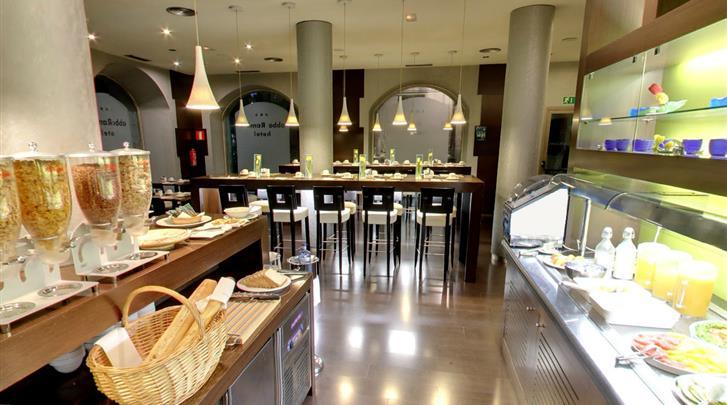 Barcelona, Hotel Abba Rambla, Ontbijtrestaurant