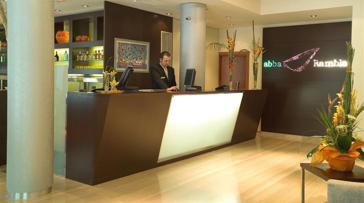 Barcelona, Hotel Abba Rambla, Receptie