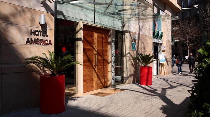 Barcelona, Hotel America, Façade hotel