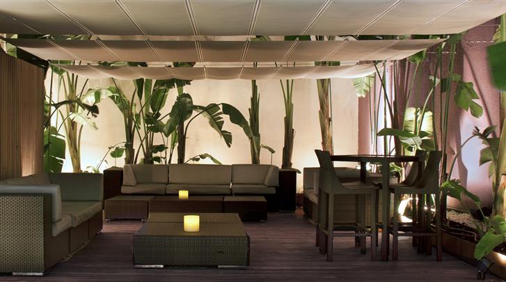 Barcelona, Hotel Barcelona Catedral, Lounge terras
