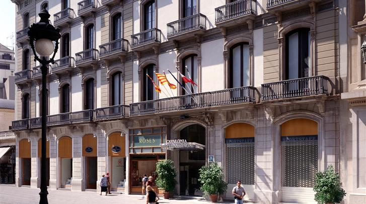 Barcelona, Hotel Catalonia Portal de l'Angel, Façade hotel