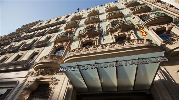 Barcelona, Hotel Catalonia Ramblas, Façade hotel