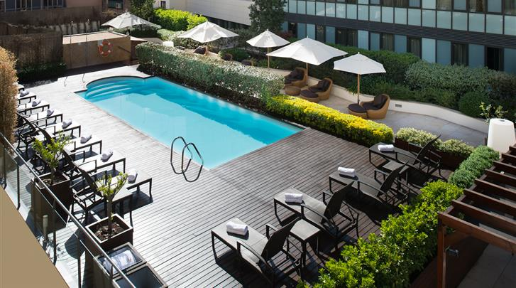 Barcelona, Hotel Catalonia Ramblas, Zwembad