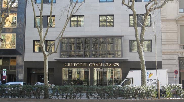 Barcelona, Hotel Gran Via 678, Façade hotel