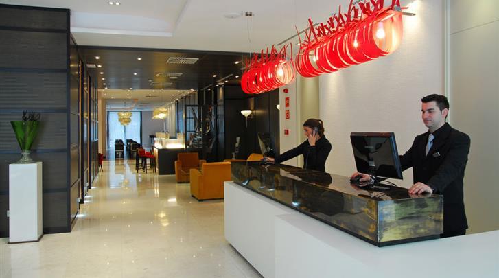 Barcelona, Hotel Gran Via 678, Receptie