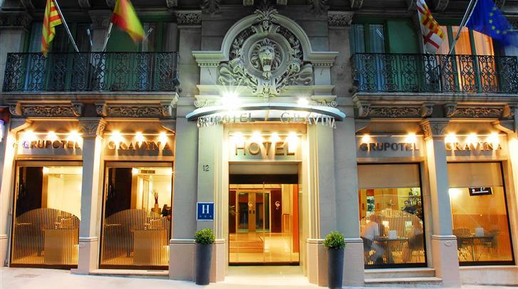 Barcelona, Hotel Grupotel Gravina, Façade hotel