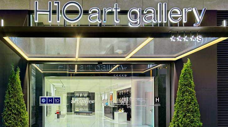 Barcelona, Hotel H10 Art Gallery, Façade hotel