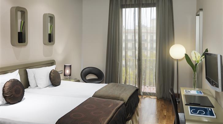 Barcelona, Hotel H10 Casanova, Standaard kamer