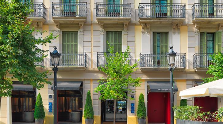 Barcelona, Hotel H10 Metropolitan, Façade hotel