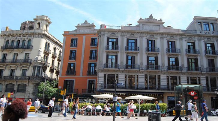 Barcelona, Hotel Internacional Cool Ramblas Barcelona, Façade hotel