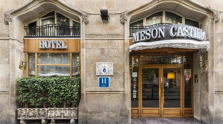 Barcelona, Hotel Meson Castilla, Façade hotel