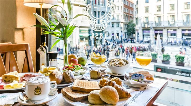 Barcelona, Hotel Suizo, Restaurant