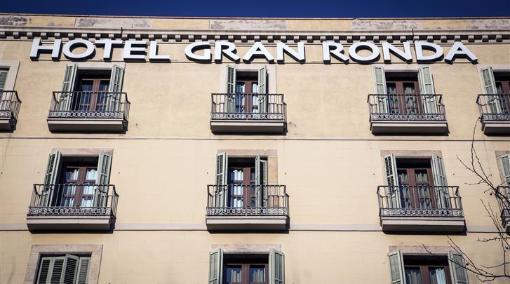 Barcelona, Hotel Urban Gran Ronda, Façade hotel