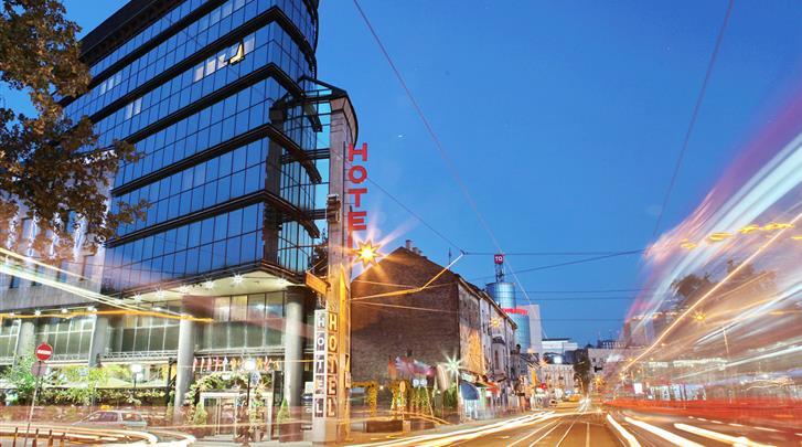 Belgrado, Designhotel Mr President, Façade hotel