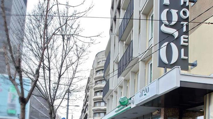 Belgrado, Hotel Argo, Façade hotel