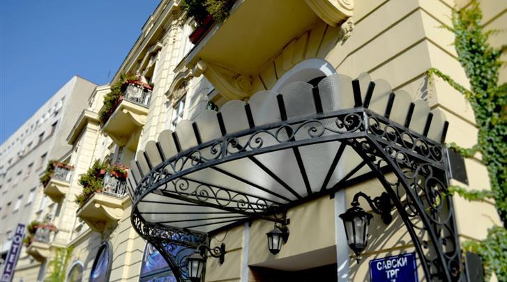 Belgrado, Hotel Belgrade City, Façade hotel