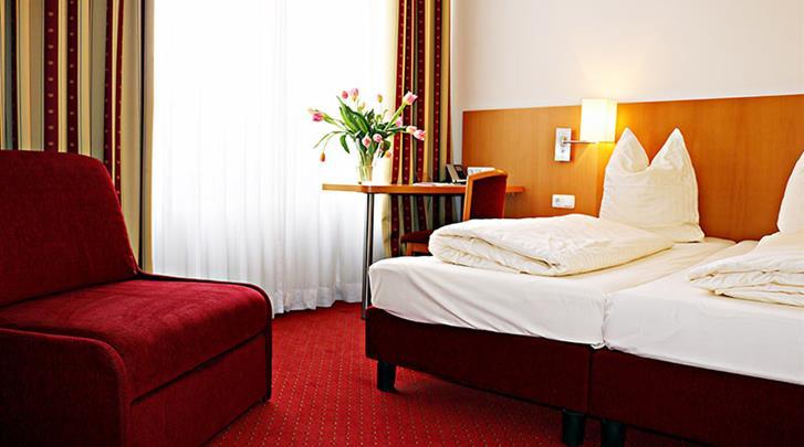 Berlijn, Hotel Air in Berlin, Driepersoonskamer voorbeeld