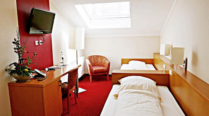 Berlijn, Hotel Air in Berlin, Standaardkamer Twin voorbeeld
