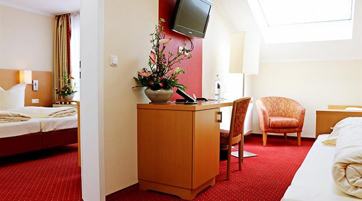 Berlijn, Hotel Air in Berlin, Vierpersoonskamer voorbeeld
