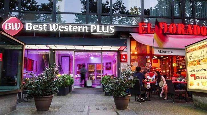 Berlijn, Hotel Best Western Plus Plaza Berlin Kurfürstendamm, Façade hotel