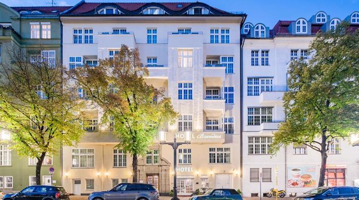 Berlijn, Hotel Brandies, Façade hotel