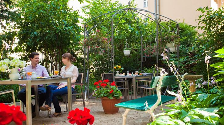 Berlijn, Hotel Brandies, Hoteltuin