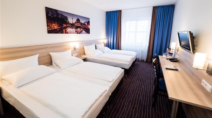 Berlijn, Hotel Econtel Charlottenburg, Vierpersoonskamer Comfort
