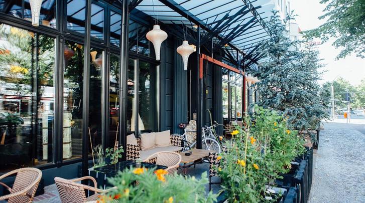 Berlijn, Hotel Lulu Guldsmeden, Terras