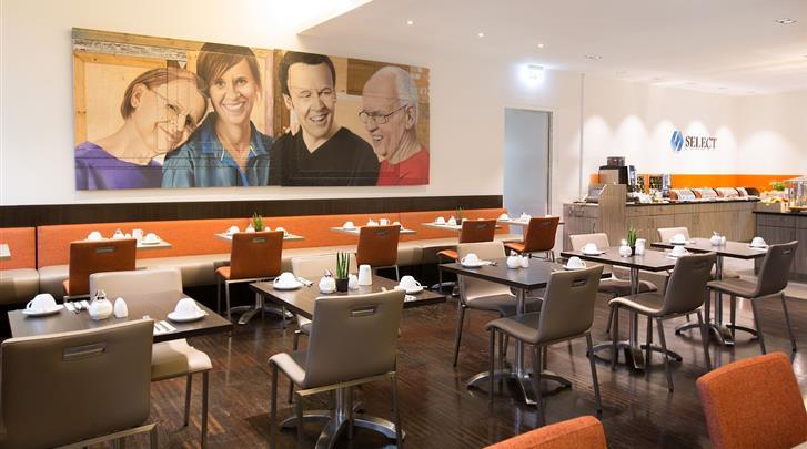 Berlijn, Hotel Select Berlin The Wall, Ontbijtruimte