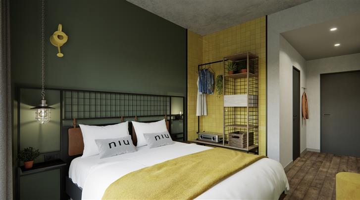 Berlijn, Hotel the niu Dwarf, Standaard kamer
