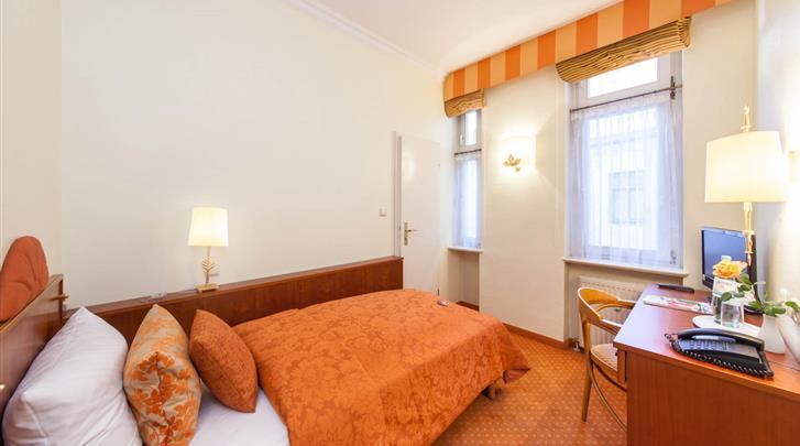 Berlijn, Novum Hotel Kronprinz, Eenpersoonskamer voorbeeld