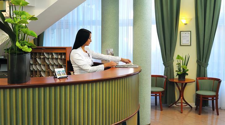 Boedapest, Hotel Baross City, Receptie
