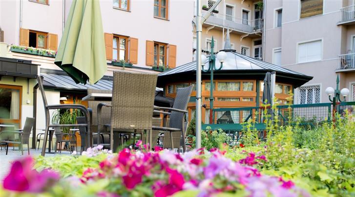 Boedapest, Hotel Corvin, Tuin