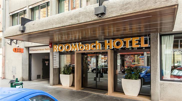 Boedapest, Hotel Roombach, Façade hotel