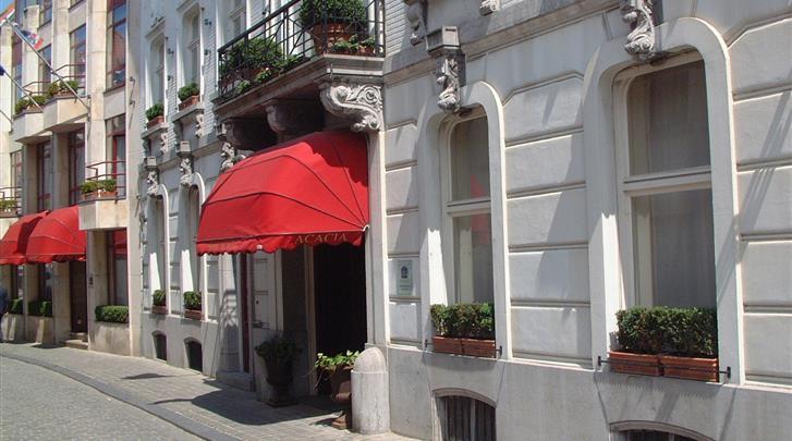 Brugge, Hotel Acacia, Façade hotel