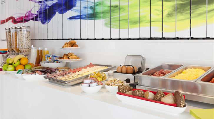 Brussel, Hotel The Pantone, Ontbijtbuffet